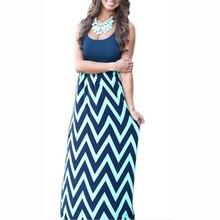 Mulheres Praia Boho Maxi Vestido de Verão 2017 de Alta Qualidade Da Marca Listrado Impressão Vestidos Longos Feminino Plus Size