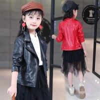 Girls Clothing Direct Selling Free Shipping Motorcycle Leather 2015 Autumn New Long Sleeve Jacket Female PU