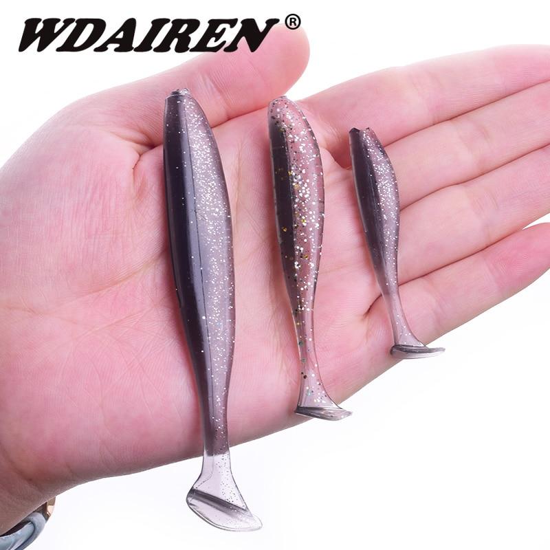Worm zacht aas 95mm 75mm 50mm T-staart jigging wobblers vissen lokken - Visvangst - Foto 2