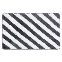 Gray Black Stripes Home Rug Anti Skid Bath Mat Shower Area Rugs Toilet Rug Simple Soft
