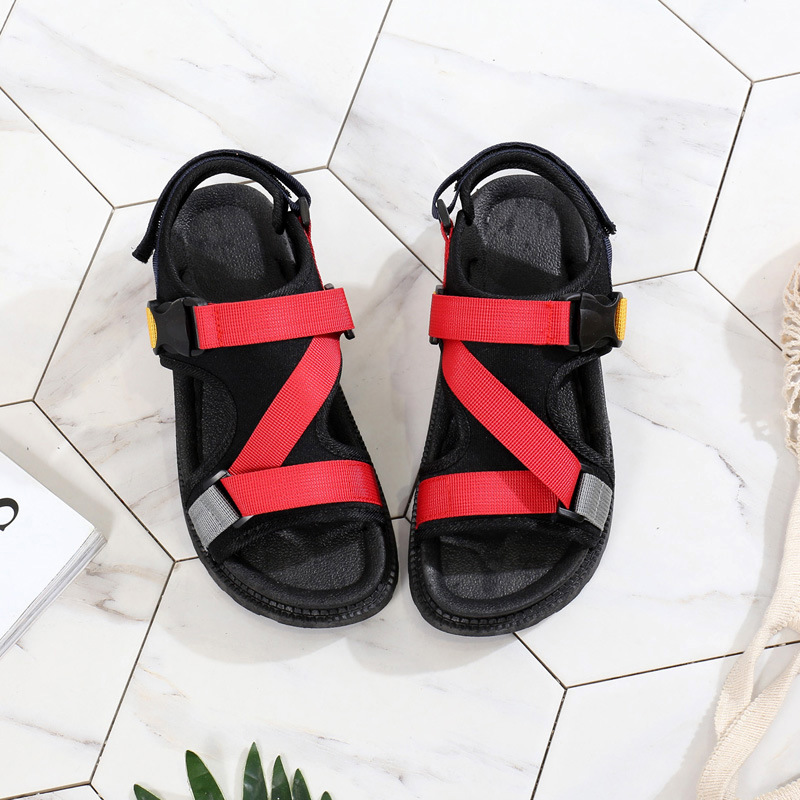 Open Toe Front Rear Strap Flat with Platform Sandals Women Mixed Colors Mixed Colors Casual Ladies Shoes Fashion Basic Sandals 6