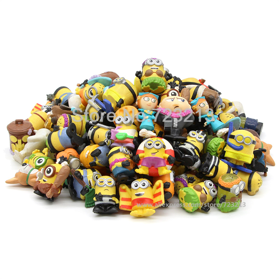 Image 2 - Soft 2.5 3cm Random 5pcs/lot Minions Bob Kevin Cartoon Gru Action Figure Despicable Me Toy Movie Anime Collection Dolls Toys-in Action & Toy Figures from Toys & Hobbies