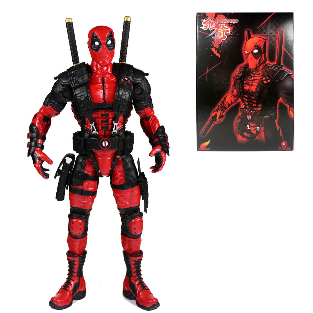 Anime X-Men Deadpool Red Suit 10 Action Figure Free Shipping