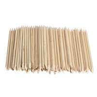 100pcs Nail Art Orange Wood Stick Cuticle Pusher Remover for Nail Art Care Manicures Nail Tools