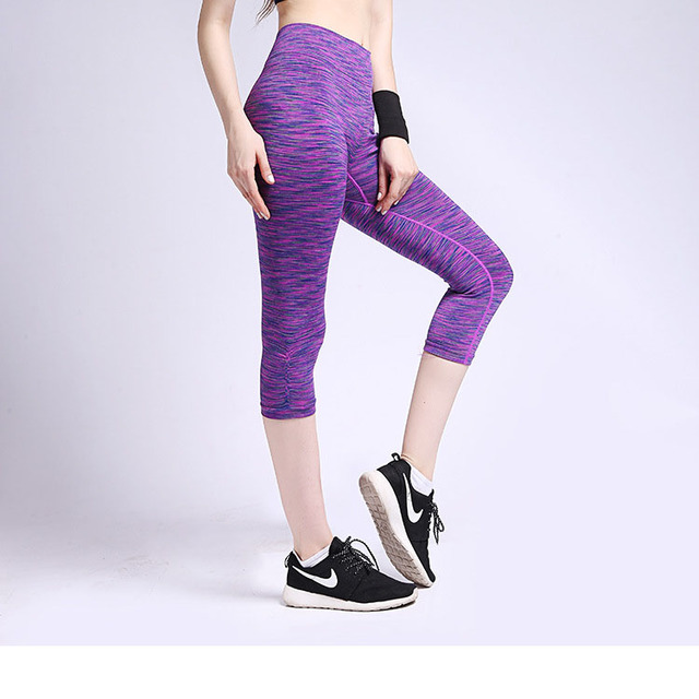 New Women High Waist Sporting Capri Cropped Leggings Workout Bodybuilding Gymming Runs Pants Exercise Fitness Yogaing Clothing