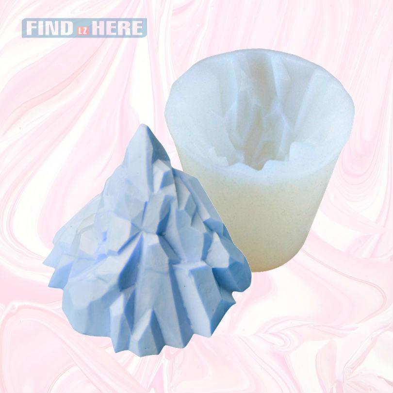 Форма для торта с помадкой формы с изображением заснеженной горы искусственный Форма ненаполненный силиконовый каучук паста для изготовления конфет формы для торта шоколад украшения Sugar Craft