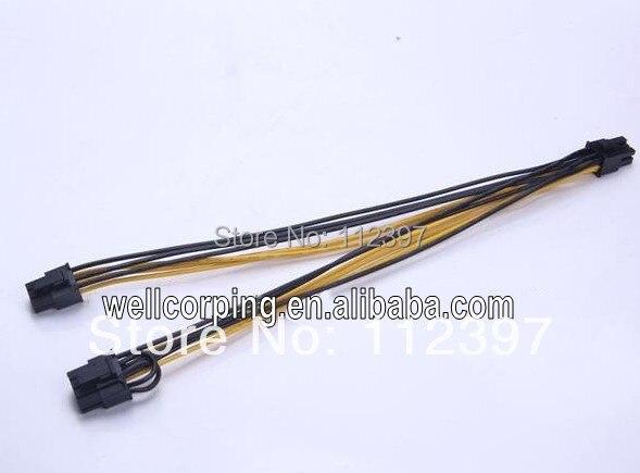 Hot product! PCI-E 8 PIN TO PCI-E 2x 8 PIN PCI-E 8 pin to dual 8 (6+2 ) pin PCI-E SPLITTER POWER CABLE VEDIO GRAPHIC CARD