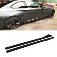 Universal Carbon Fiber Door Protector Chin Kit Guard Side Skirts Aprons for BMW M2 M3 M4 X5 X6 Universal cars