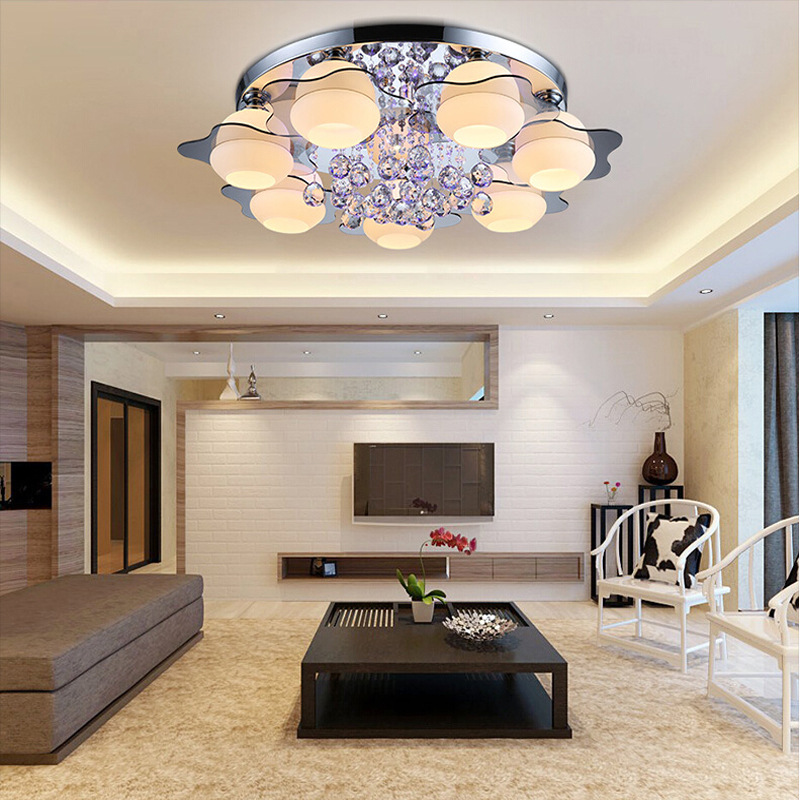 New design crystal led ceiling light modern led kitchen lamp for living room bedroom lights Lustre for Home Decor lighting modern led crystal ceiling light for living room lamp stainless steel