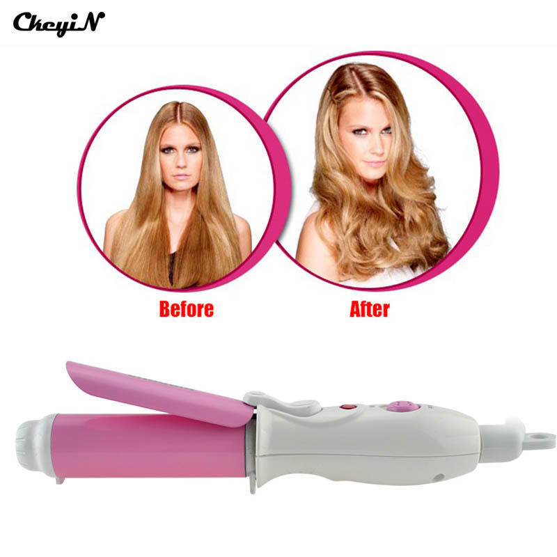 CkeyiN Mini Portable Electric Hair Curler Personal Hair Styling Tools Hair Waver Wave Machine Professional Hair Curling Iron ckeyin professional ceramic curling iron magic hair curler curling wand mini travel twist spiral personal hair styling tools