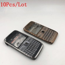 fc93a4d8126 10 unids/lote completa cubierta de la carcasa del teléfono móvil + inglés  teclado para Nokia E72 vivienda