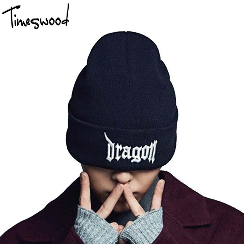 Unisex Letter Dragon Winter Hats Skullies Beanies Men Woman Beanie Knitting Hat knitted Cap New Design Invierno Bonnets Gorros 2016 band beanies winter men knitted hat reversible beanie for new women unisex baggy warm skullies skull cap bonnets gorros