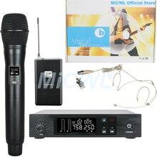 SKM-9100 Wireless Handheld Headset Lavalier Instrument Microphone System Sennheise SKM 9000 QLX цена и фото