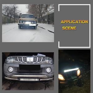 Image 5 - 20 Polegada offroad conduziu a barra de luz azul vermelho feixe combinado 12v 24v spotlight conduziu a luz de nevoeiro do trabalho para o trator do caminhão uaz atv suv mpv 4x4