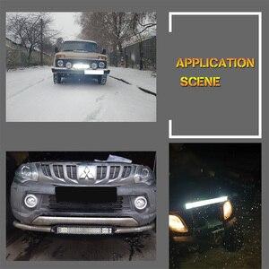 Image 5 - 20 بوصة مصباح ليد للطرق غير الممهدة بار الأزرق الأحمر كومبو شعاع 12 فولت 24 فولت الأضواء LED العمل الضباب ضوء لشاحنة جرار UAZ ATV SUV MPV 4X4