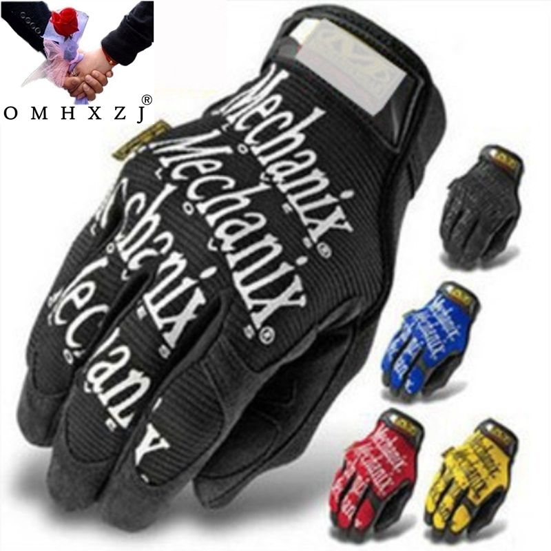 OMH Wholesale Tactical Antiskid Breathable Warm English Letters Gloves All Mechanic Gloves Climbing Cycling Driving Gloves ST15