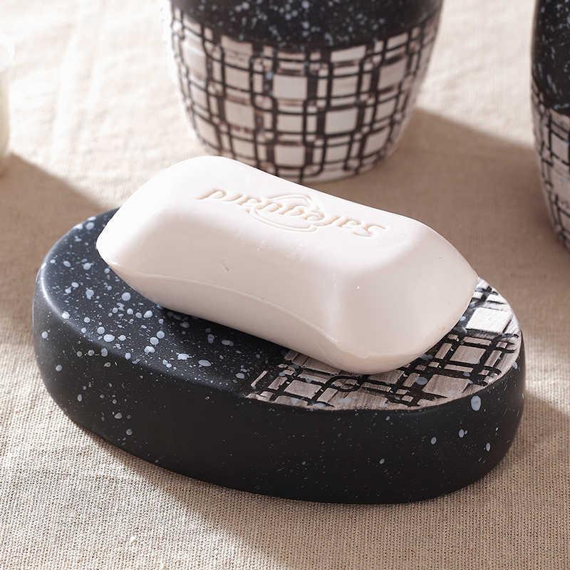 5 sztuk/zestaw japoński ceramiczny zestaw łazienkowy ceramiczny zestaw do mycia dostaw łazienka mycia zestaw kreatywny akcesoria łazienkowe zestaw