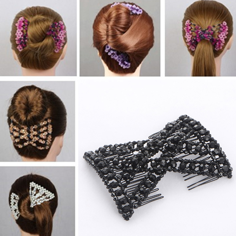 2 x Silver Snowflake Hair Clips Slides Winter Wedding Bridal Bobby Pins Vtg A52