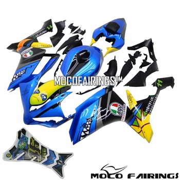Blue ABS Injection Plastics Fairings For Yamaha YZF1000 YZF R1 07 08 2007 2008 07 08 Motorcycle Full Fairing Kit Carenes Body