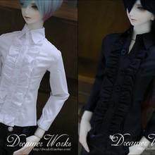 1/4 1/3 масштаб BJD кружевная рубашка с длинным рукавом для BJD/SD одежды куклы аксессуары, не включены куклы, обувь, парик и другие 18D1240