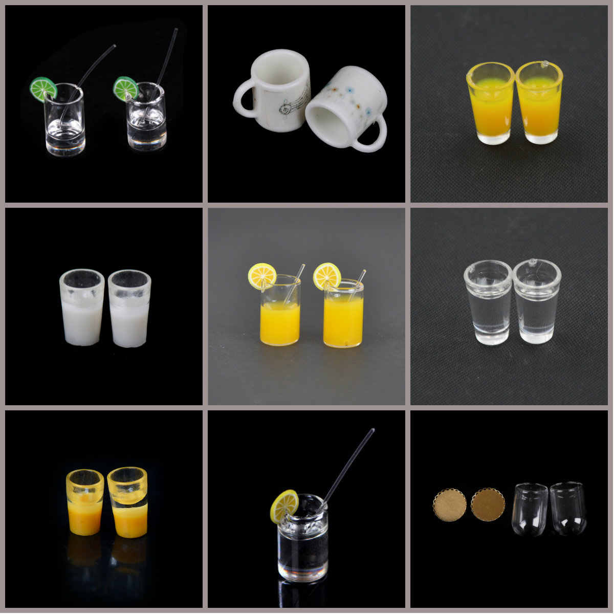 1/12 Wine Glass Cups Plate Cup Dish Tableware Set Dollhouse Miniature Toy Doll Food Kitchen Living Room Accessories 1/2/4/10pcs