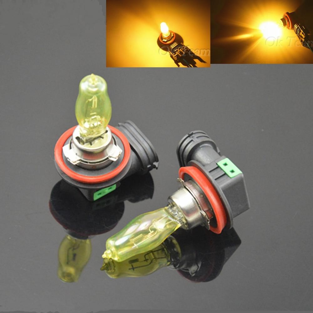 2 pcs H1/H3/H4/H7/H11/9005/9006/H8/H9 55 W 100 W 12 V HOD Xenon Globos Lâmpadas Amarelo 3000 k Halogênio Car Head Light luz de Nevoeiro da Luz