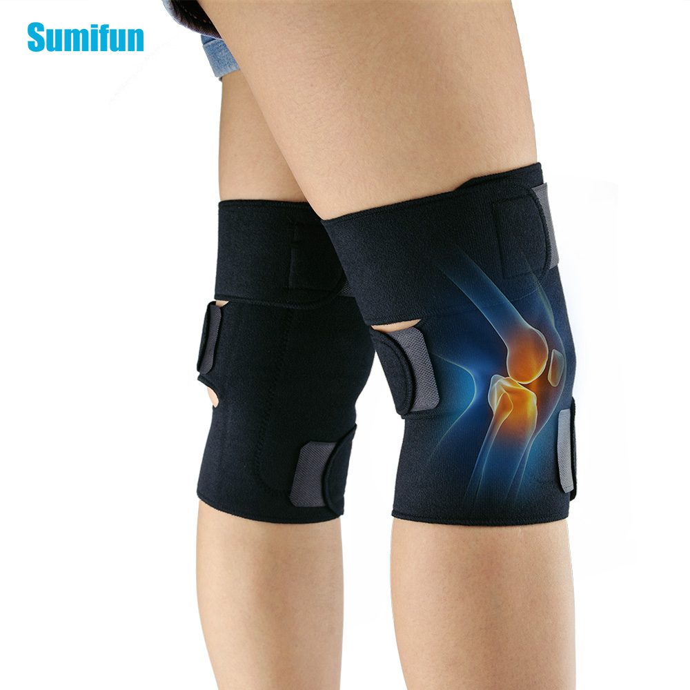 Sumifun Massager Tourmaline Self-Heating Knee Leggings Brace Support Magnetic Therapy Knee Pads Adjustable Knee Z700