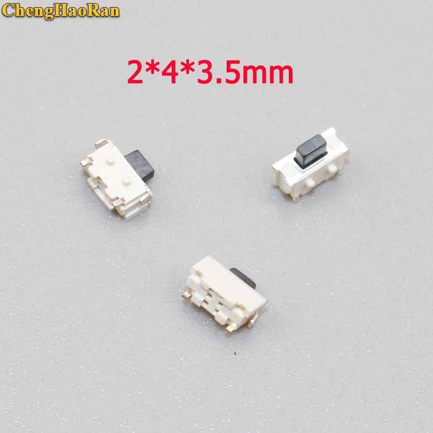 ChengHaoRan 10 sztuk 2x4x3.5mm 2*4*3.5mm mikro przełącznik dotykowy SMD Side przycisk przełącznika MP3 MP4 MP5 Tablet PC naprawa części