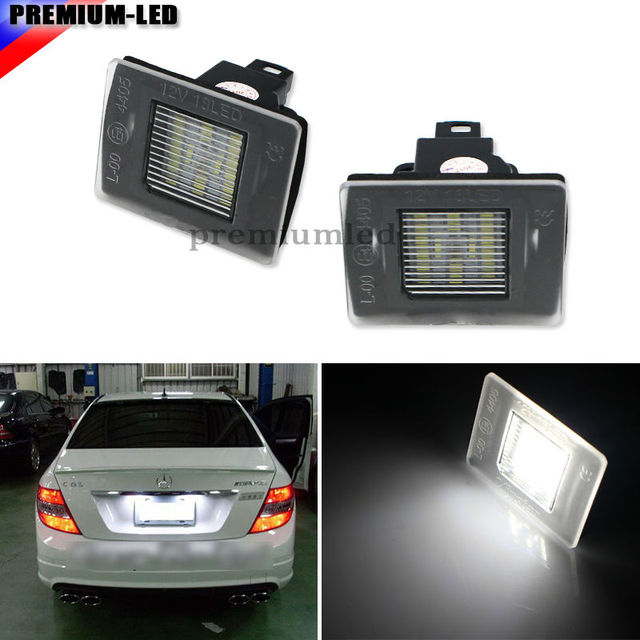 Super Bright 4014 Smd Oem Replacement Led License Plate Light Lamps For Benz Gla Slk