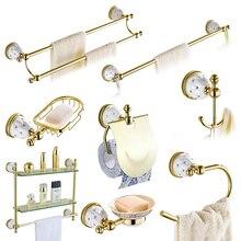 bathroom accessories sets crystal brass gold bathroom hardware sets wall mounted bathroom