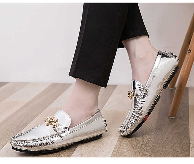 Zomer schoenen Mannen Unisex Loves Sequin Heren Schoenen mannen Mocassins Loafers Ademende Goud Zilver Toevallige Tenis Masculino
