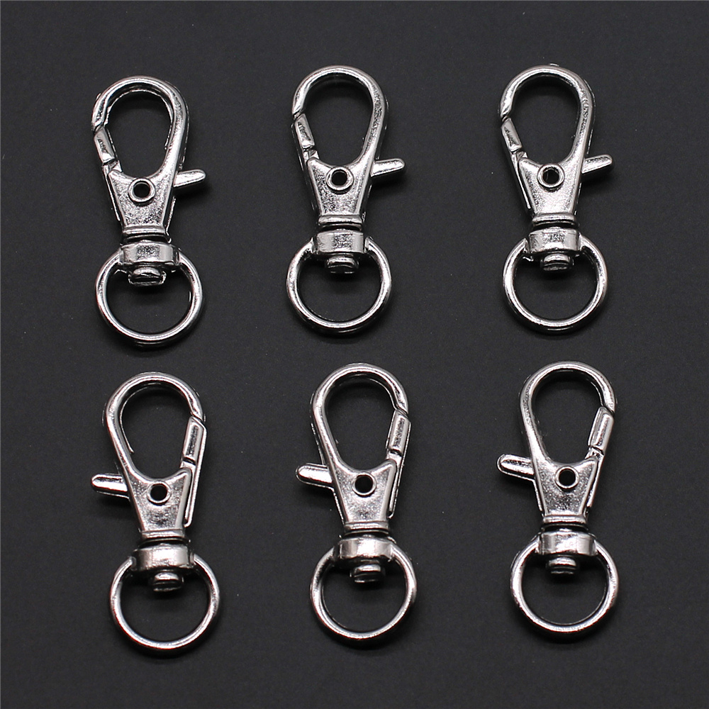 10pcs 13x32mm Metal Alloy Swivel Lanyard Snap Hook Lobster Claw Clasps Jewelry Findings & Components DIY Bag Keychain Finding