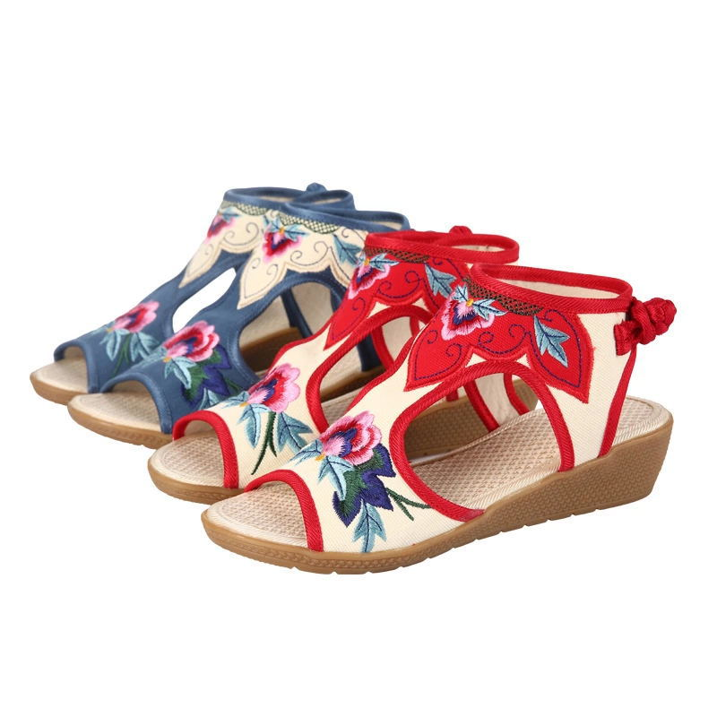 0034 womens shoes sandals wedges shoes fish mouth shoes retro national wind0034 womens shoes sandals wedges shoes fish mouth shoes retro national wind