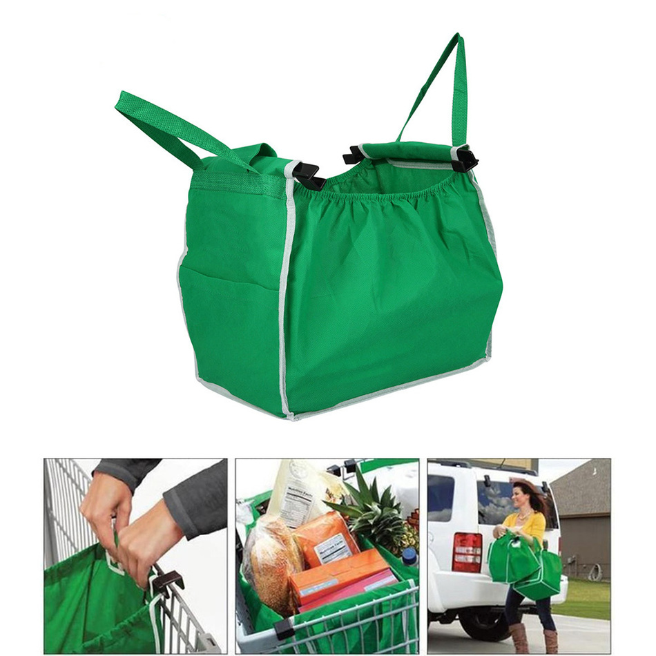 New Hot Supermarket Shopping Bag Foldable Tote Reusable Eco-friendly Trolley Bag <font><b>11</b></font> <font><b>x</b></font> <font><b>3</b></font> <font><b>x</b></font> <font><b>8</b></font> inches