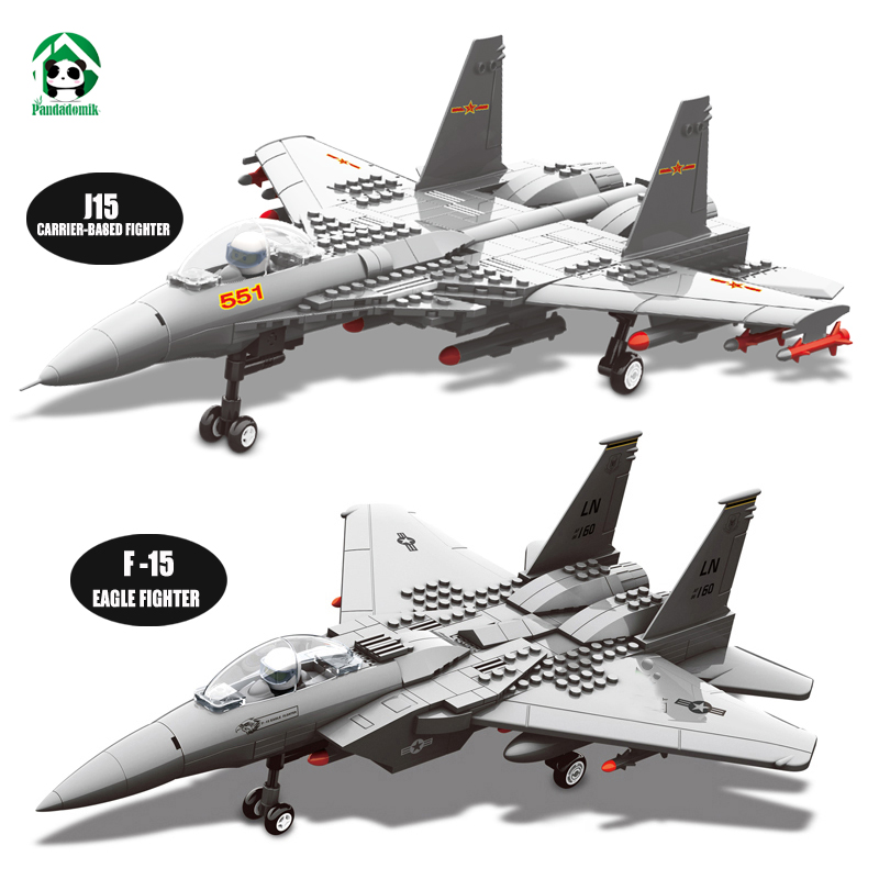 Wange F-15 Eagle Fighter Plane Building Blocks Kit Military Army Set Models & Building Toys for Children Bricks Compatible Brick tumama 829pcs military blocks toy 8 in 1 warship fighter tank army soldiers bricks building blocks educational toys for children
