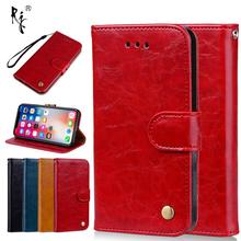Leather Case For iPhone 5 5S SE 6 6S 7 8 Plus X XS Max Xr Cases Luxury Flip Wallet Stand Style Mobile Phone Cover For iPhone 10 цена и фото