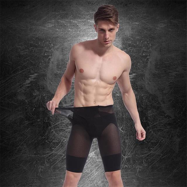 01a9f167cea7d IGGY men hot shapers pants high waist body shaper pants nylon strong  compression waist pants slim waist belt beer belly