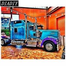 "New Full Round Diamond 5D DIY Diamond Painting ""big truck"" Embroidery Cross Stitch Rhinestone Mosaic Painting Decor Gift"