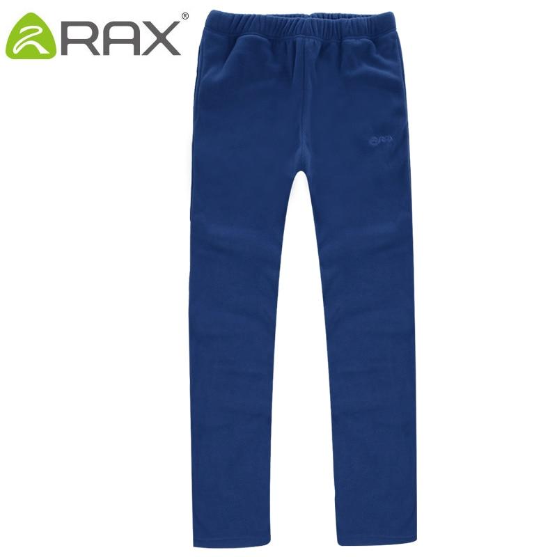 RAX Outdoor Fleece Warm Softshell Pants Women Winter Hiking Camping Fleece Pants Men Woman Breathable Sports Pants Softshell