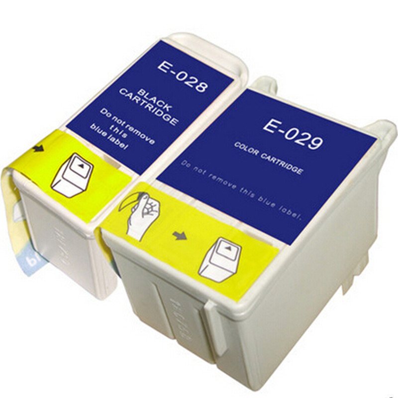 2x For Epson 028 029 T028 T029  Ink Cartridge For Stylus C60 C61 CX3100 Ink jet Printer Free Shipping Hot Sale