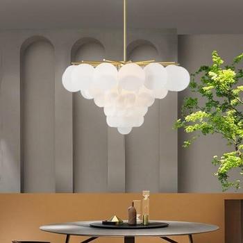 Белый теплый акриловый Креативный светодиодный светильник, простой круглый светильник для дома, гостиной, столовой, светильник