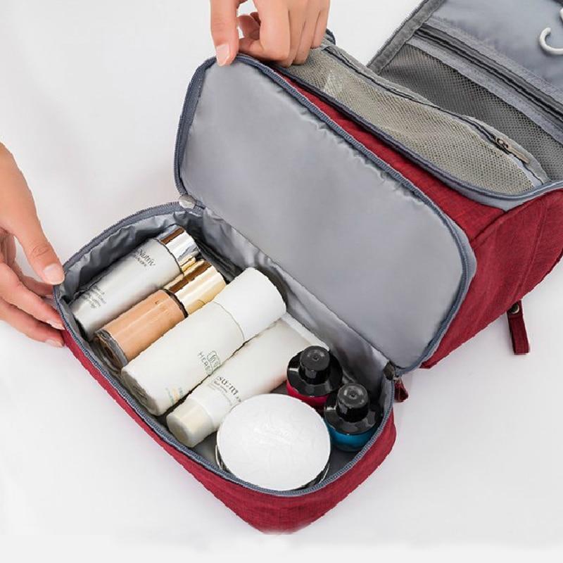 Naiset Miehet Travel Bag Kannettava Makeup Bag Hanging Kosmetiikka - Kodin varastointi ja organisaatio - Valokuva 3