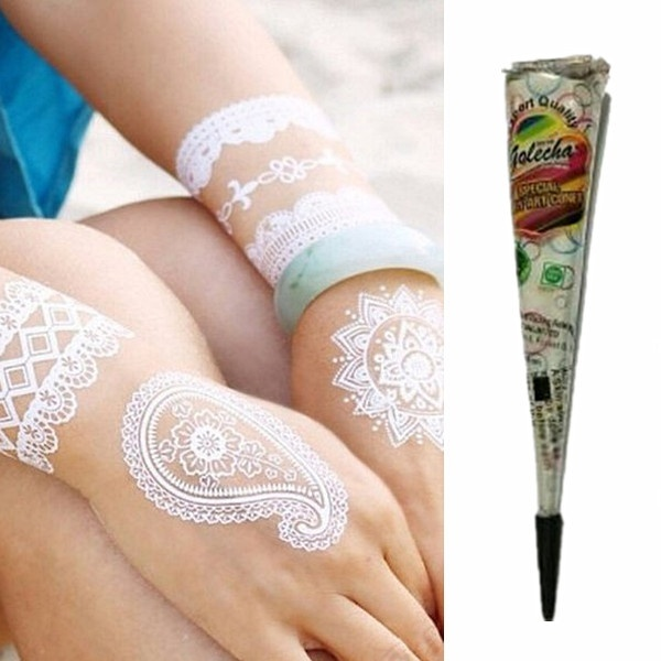 Henna Tattoo Cream Cone Temporary Body Art Mehandi Gilding Paint DIY @ME88