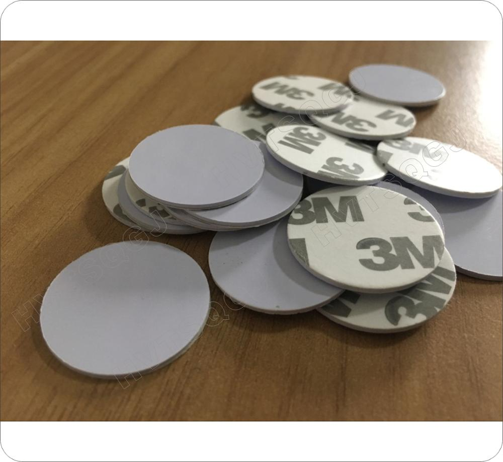 50pcs 25mm 125 Khz RFID Cards ID 3M Sticker Coin Cards TK4100 Chip Compatible EM4100 For Access Control(China)