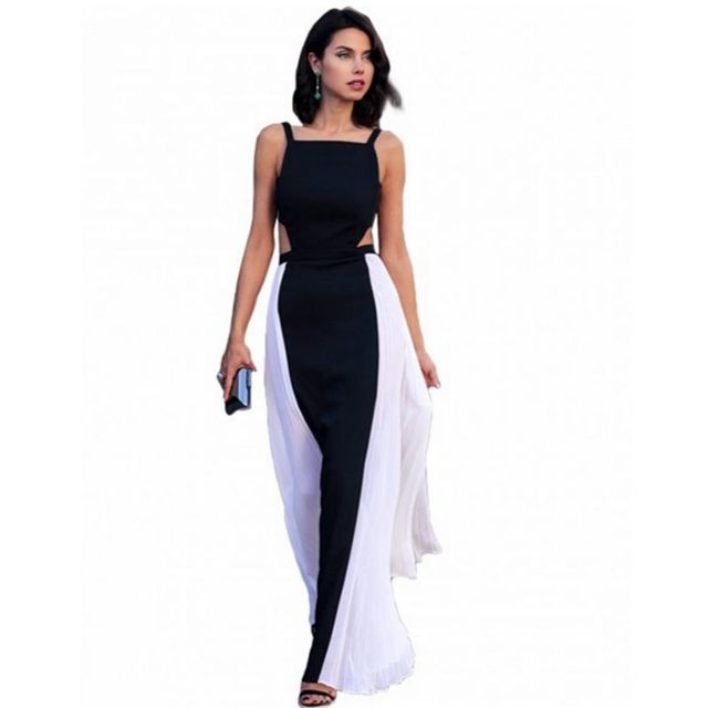 Women Beach Dress Chiffon Backless Long Dress Plus Size Great Gatsby