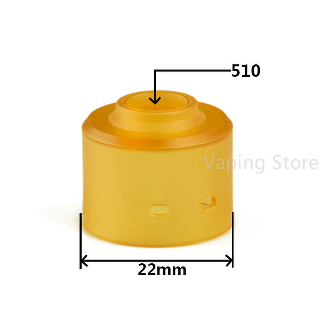 PEI Ultem Top Cap Bell Cap with 510 Drip Tip Fitment Replacement for on