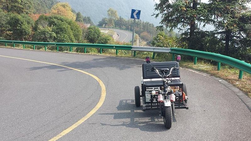 Starke volle chassis design und, der prototypen tests und volle CKD teile lieferung arrangieren für elektrische dreirad und motorrad - 2