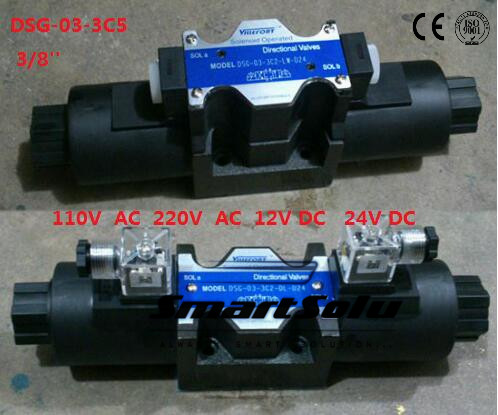 Free shipping DSG-03-3C5 12V DC 3/8'' SOLENOID OPERATED DIRECTIONAL VALVE, Terminal Box Type Plug-in Connector Type smt dsg 02 3c5 rc 3 8 24v dc solenoid operated directional valve 3 positions spring centred terminal box plug in connector type