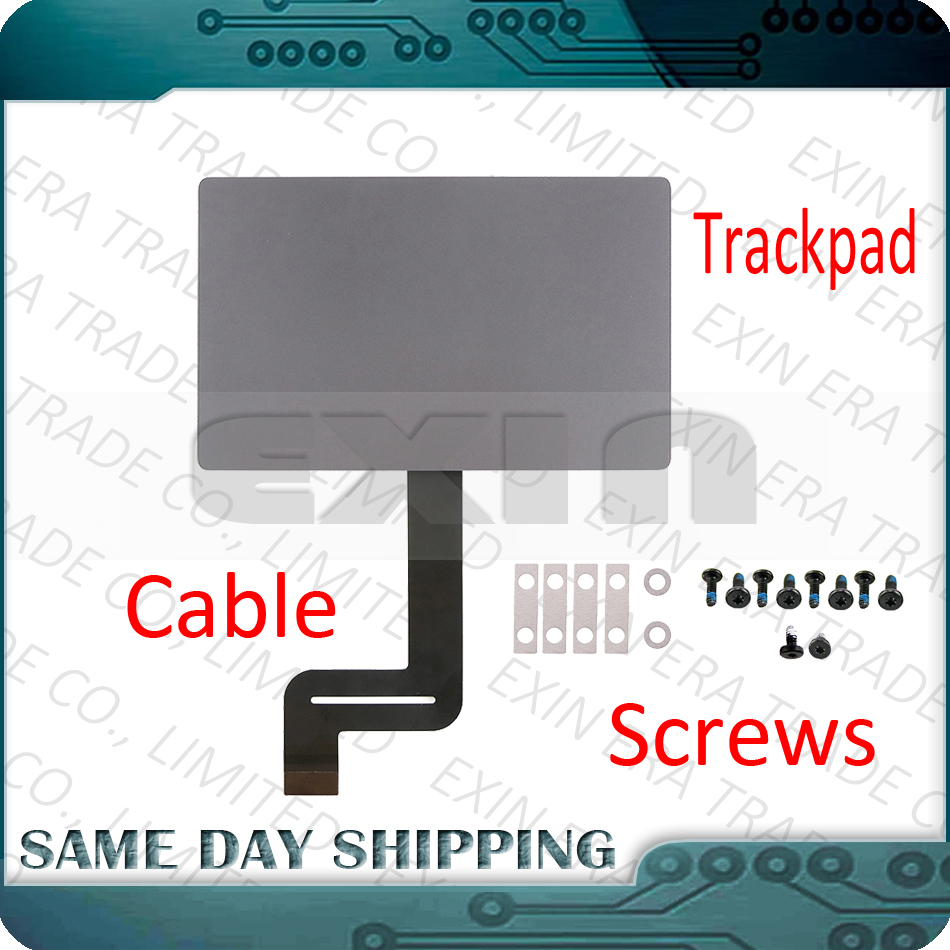 New For MacBook Pro Retina 13.3 A1706 A1708 Touchpad Trackpad with Force Touch Pad Flex Cable with Track Pad Screws 2016 2017 new silver for macbook pro retina 15 4 a1707 force touch pad touchpad trackpad