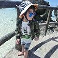 2016 Primavera Outono Do Bebê Das Meninas & Meninos Outwear Crianças Casuais Camouflage Impressão Zipper Cardigan Crianças Jaquetas E Casacos Para 2-7 Anos